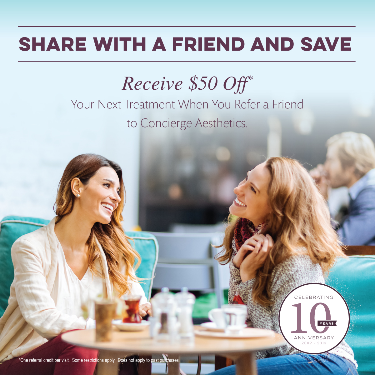 Refer a Friend and Save - Concierge Aesthetics