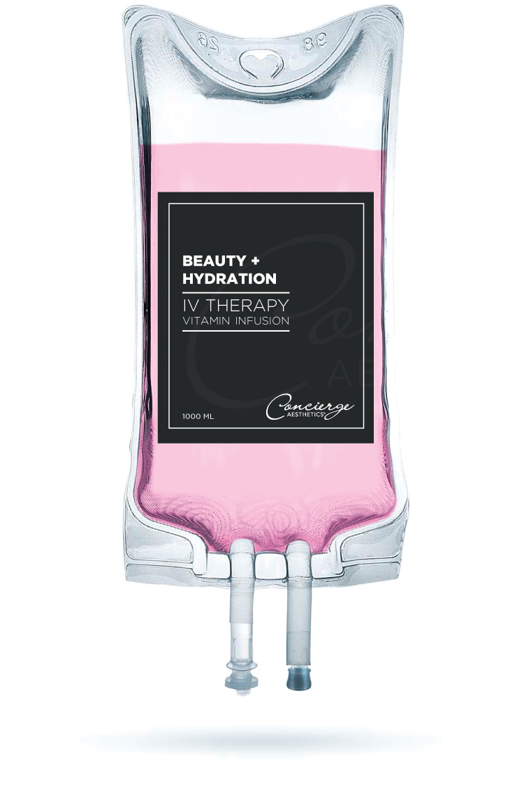 IV Vitamin Infusion Therapy - Beauty + Hydration - Concierge Aesthetics - Irvine, Orange County