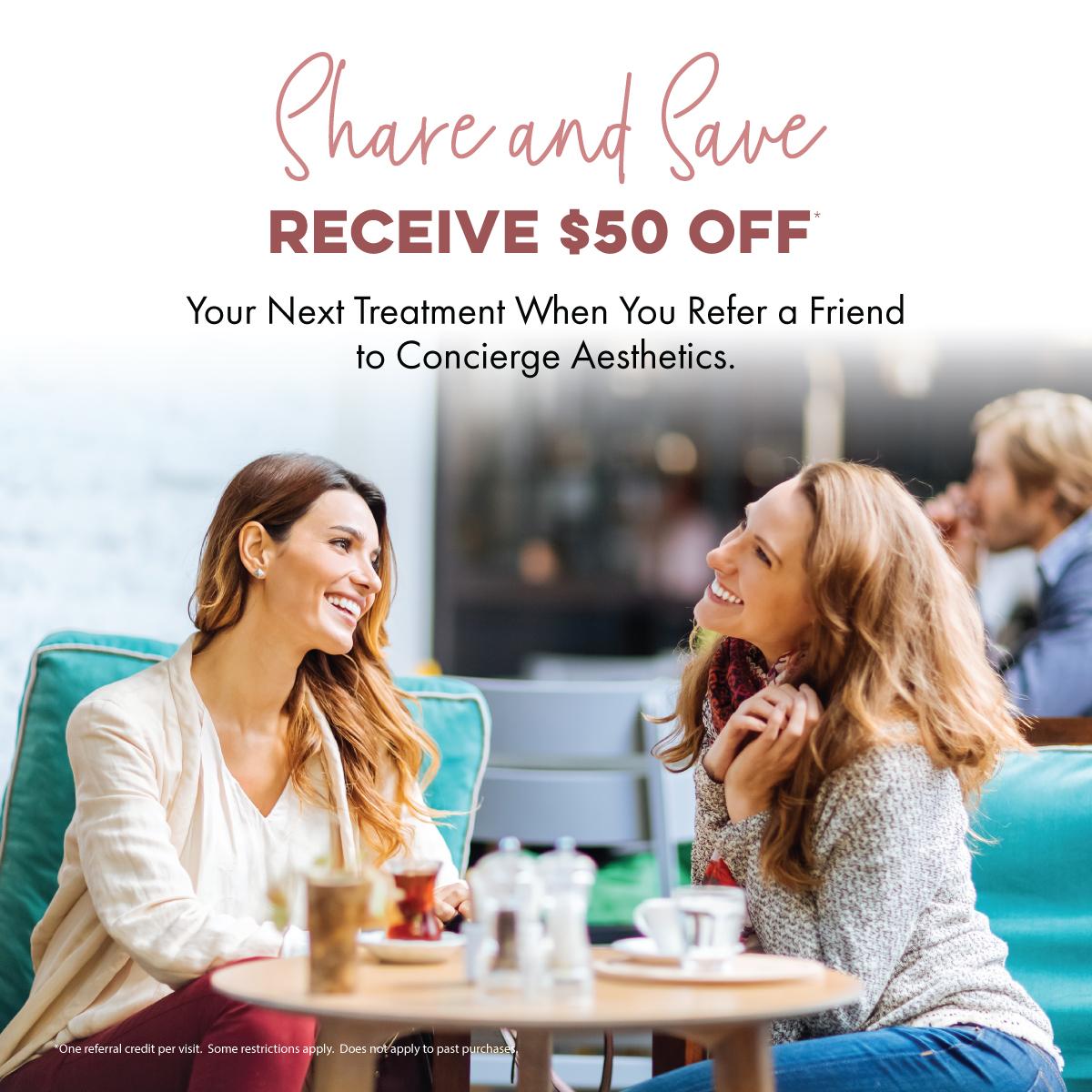 $50 Referral Discount - Concierge Aesthetics - Irvine (Orange County)