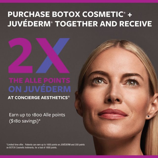 ⭐️⭐️ BOTOX Cosmetic + JUVÉDERM Treatment = Double JUVÉDERM Alle Points!  . (1) 💉 of JUVÉDERM + Botox = $60 Off Next Treatment (2) 💉s of JUVÉDERM + Botox = $100 Off Next Treatment (3) 💉s of JUVÉDERM + Botox = $140 Off Next Treatment (4) 💉s of JUVÉDERM + Botox = $180 Off Next Treatment . This is a Limited Time Offer.  Schedule Today and Save! . Leave Concierge Aesthetics with confidence and peace of mind that your results will be natural and gorgeous. . ☎️ (949) 910-1609 📧 info@ca-oc.com 💻 www.ca-oc.com 🌎 Irvine, California, USA . #conciergeaesthetics #bestmedspaoc #irvine #orangecounty #skincare #skin #oc #medical #healthbeauty #bestmedspa  #antiaging #weloveourpatients #beauty #naturalresults  #juvederm #juvedermvolbella  #volbella #juvederm #botox #botoxcosmetic #savings #doublepoints