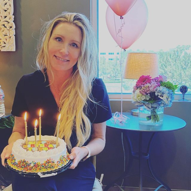 🎉🎊🎈Join us in wishing a very Happy Birthday to our beautiful, smart, bold, talented, selfless and sweet leader, Stacy.  We had fun celebrating her birthday at lunch today. Wishing her a wonderful birthday. We 💜💜 you! #conciergeaesthetics  #bosslady